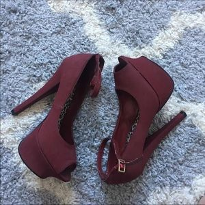 Shoes - Burgundy Heels